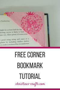 Fabric Corner Bookmark