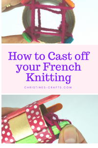 Cast off French Knitting