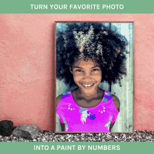 Photo to Paint By numbers Ad