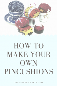 How to make your own pincushion