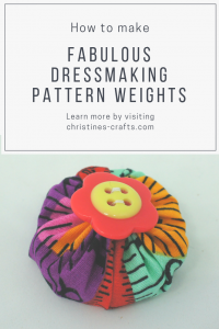Dressmaking pattern weights
