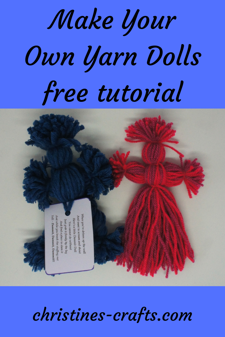 photo regarding Dammit Doll Printable Pattern referred to as Yarn Doll (Dammit Doll) - How toward Create ~ Christines Crafts