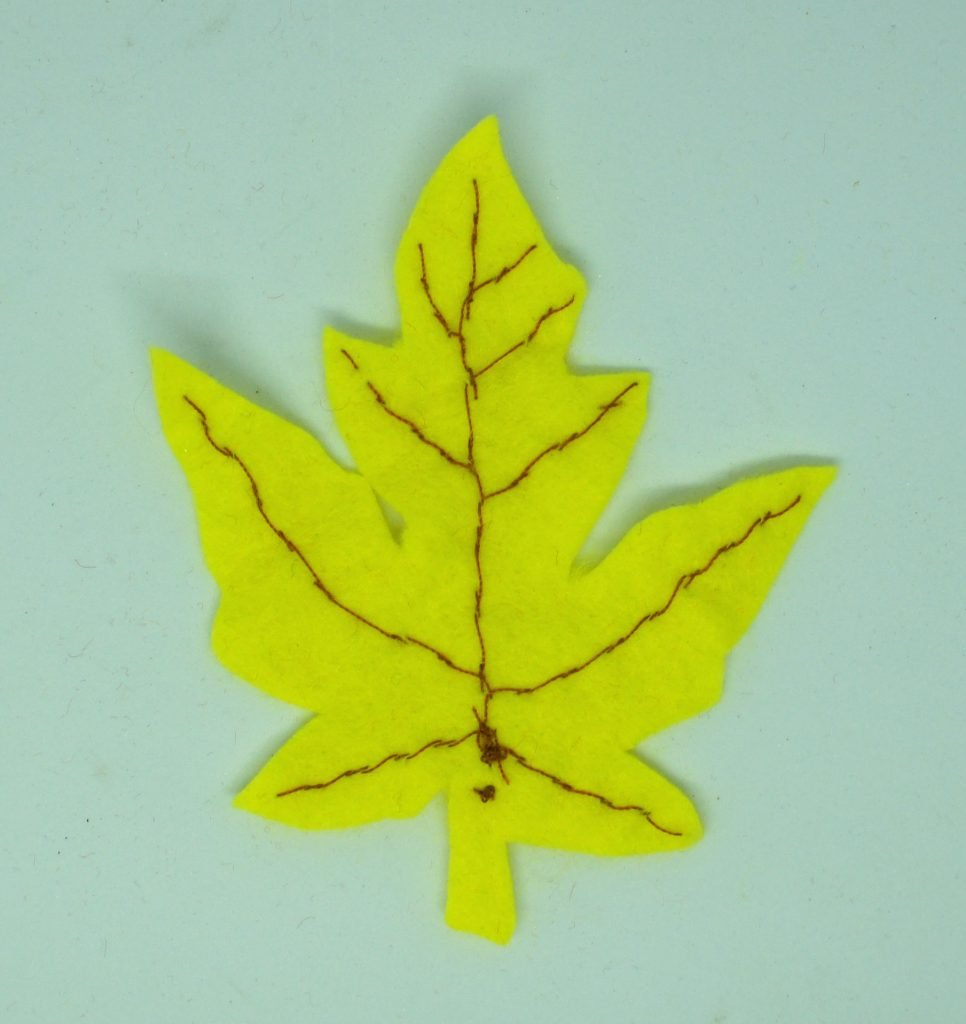 Back of yellow leaf