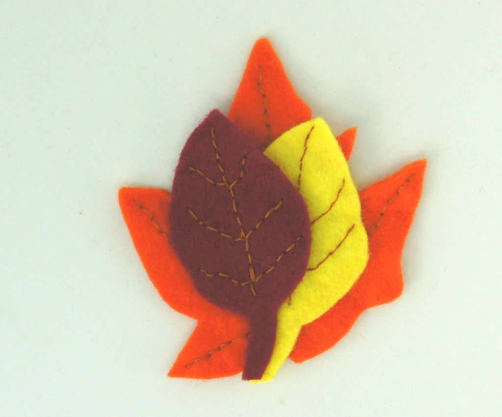 Fall leaves Brooch