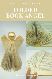 folded book angel