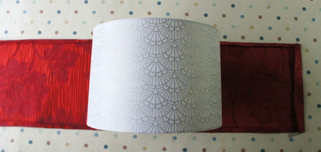 Lampshade on fabric