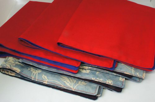 Six fabric napkins