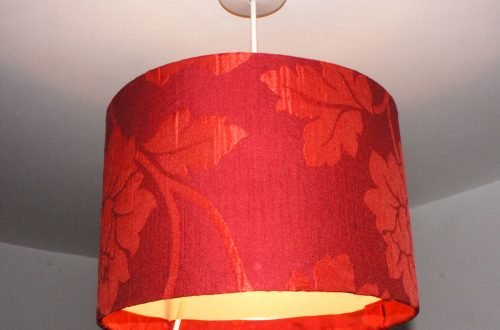 Re-covered Lampshade
