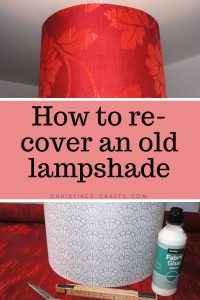 re-cover a lampshade