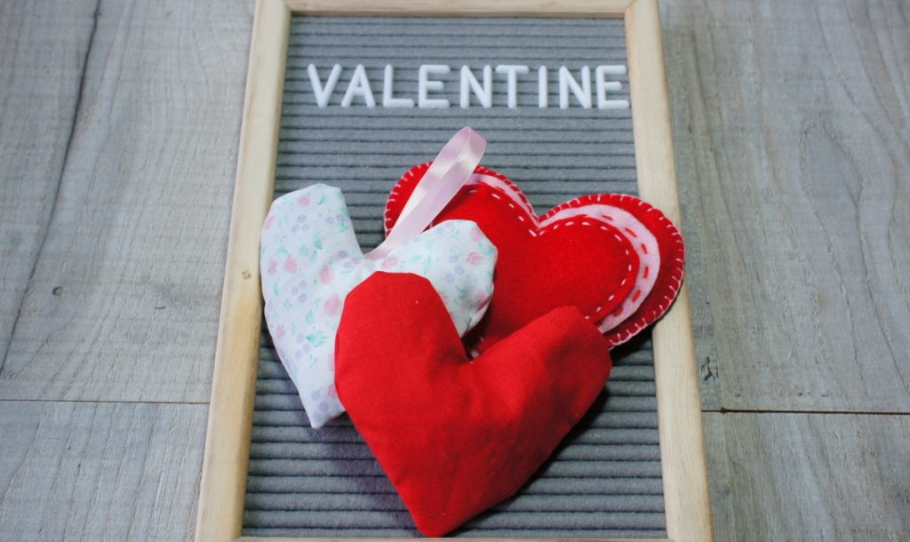 Valentine's Day Gifts - lavender bag hearts
