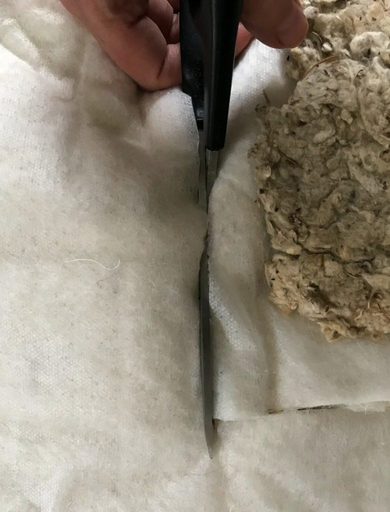 Cutting padding