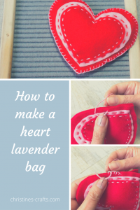 lavender bag hearts