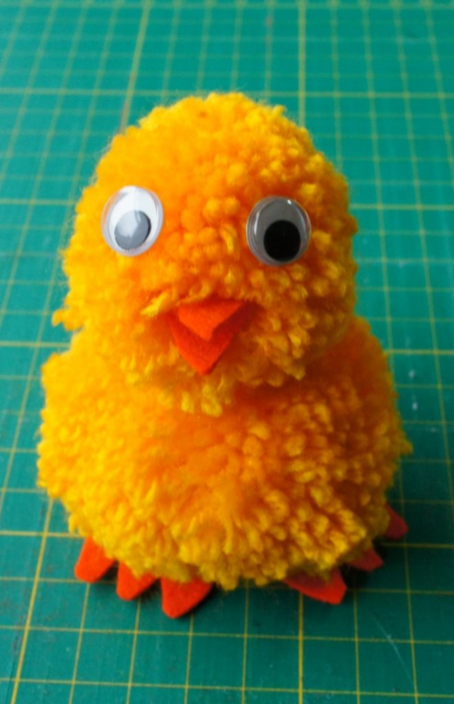 Chick glued