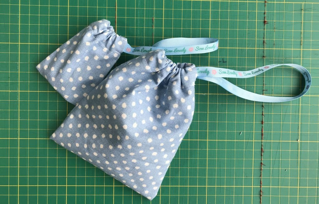 Two simple drawstring bags