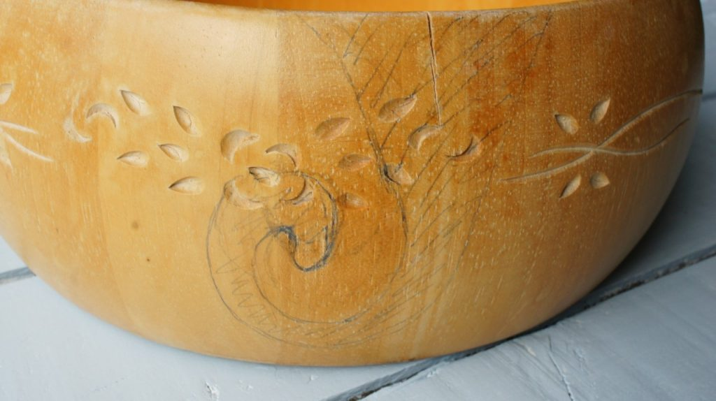 Bowl marked up