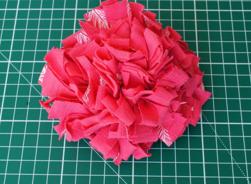Completed fabric flower