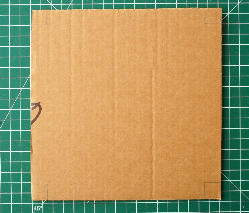 marking cardboard for flower press