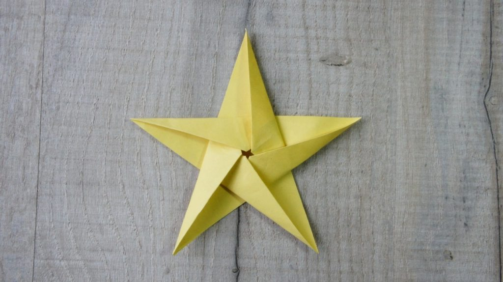 Completed 5 pointed star
