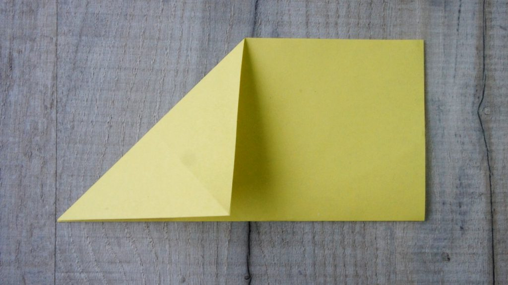 Second origami fold