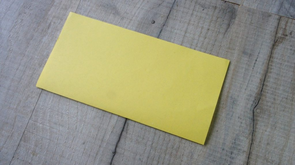 folded square of paper