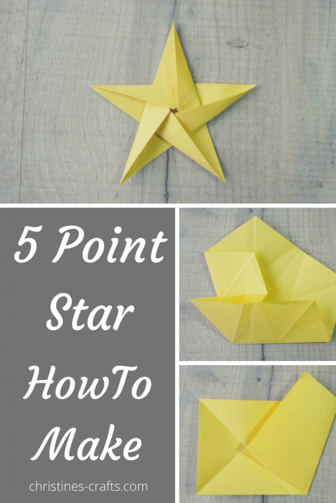 5 pointed star - how to make