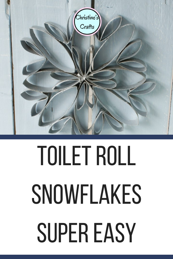 Toilet Paper Roll Snowflakes