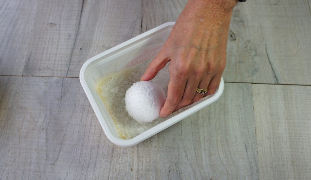 Rolling ball in snow