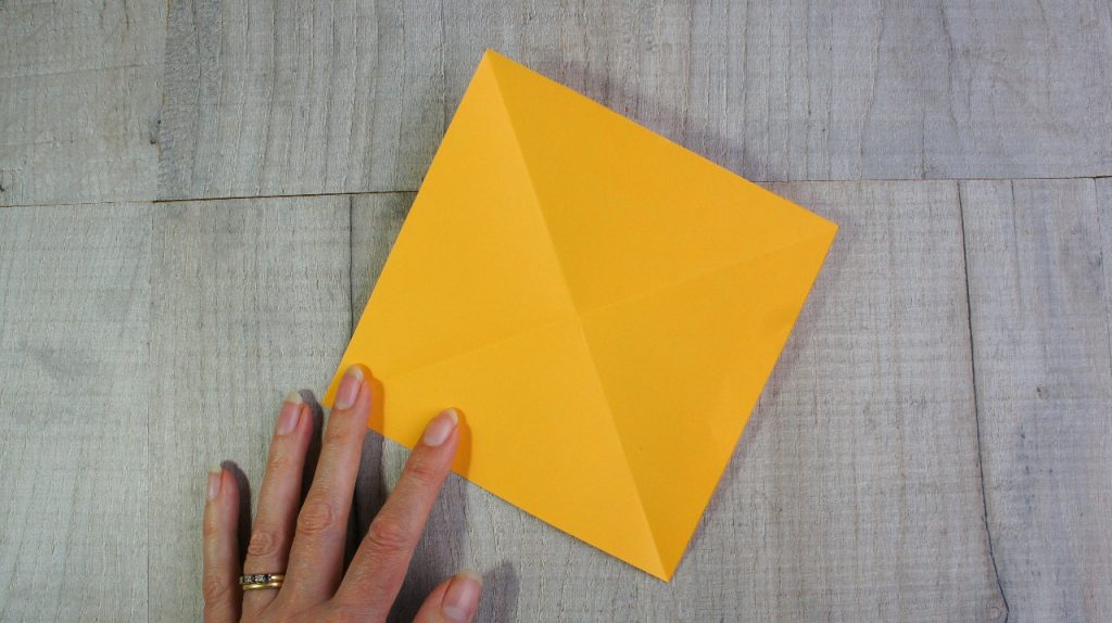 origami first folds result