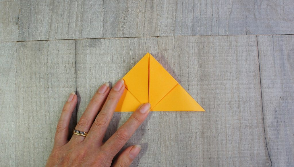 second point up fold