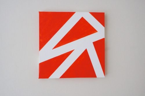 orange geometric art picture