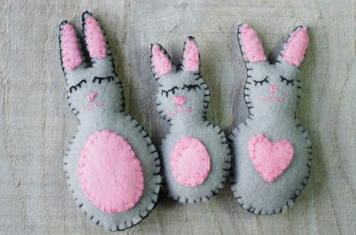 family of felt rabbits