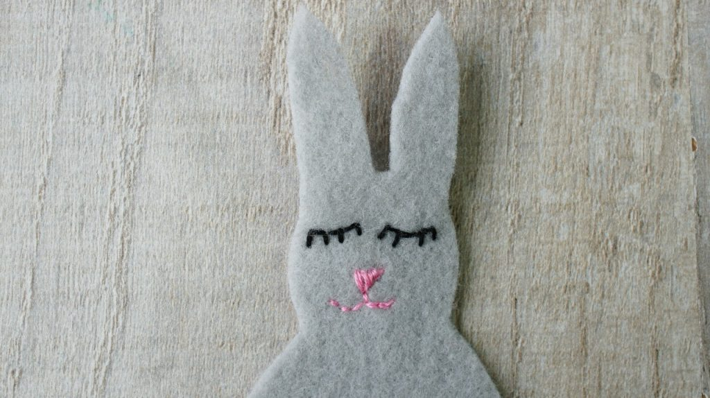 felt rabbit completed face
