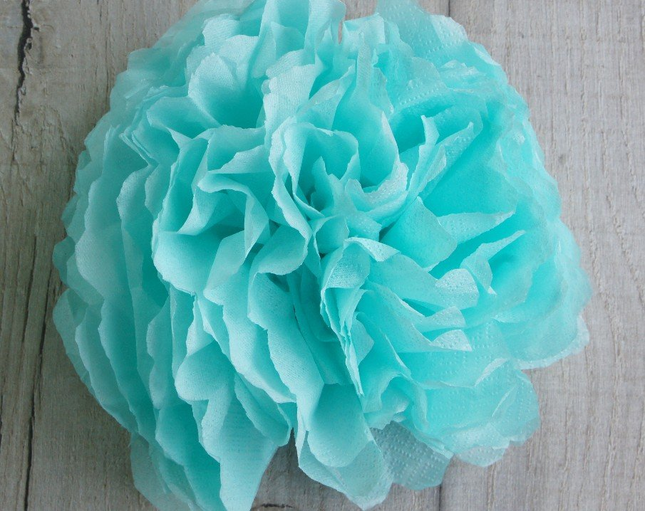 blue tissue paper flower cropped