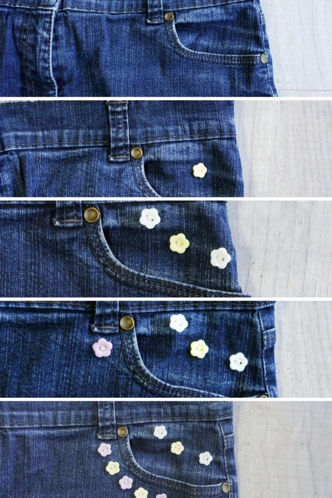 button on front pocket