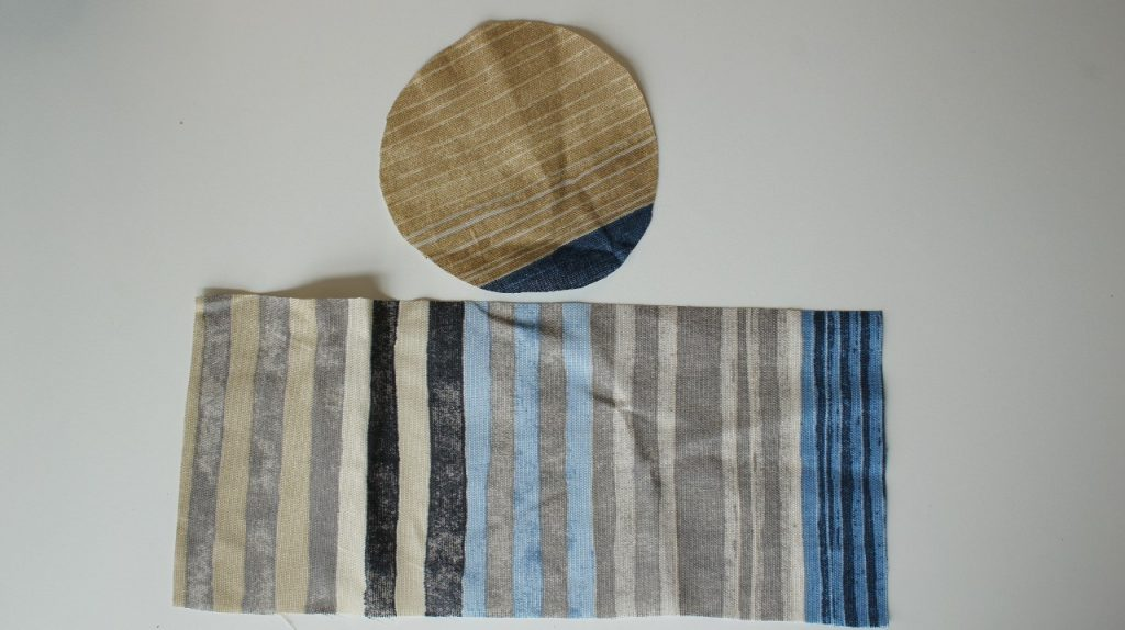 Circle & Rectangle of Fabric CUt Out