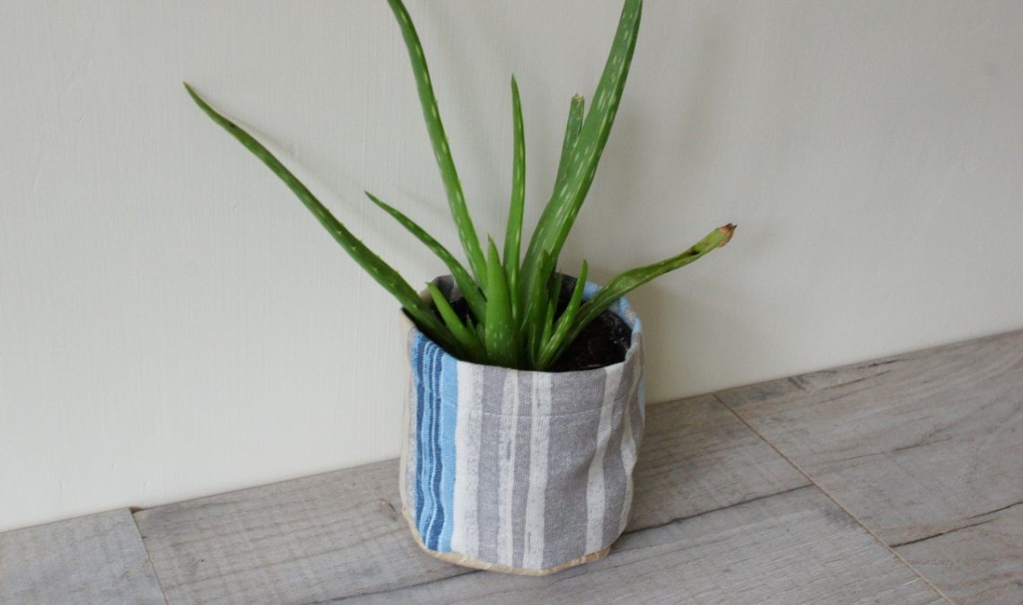 Completed Plant Pot Cover