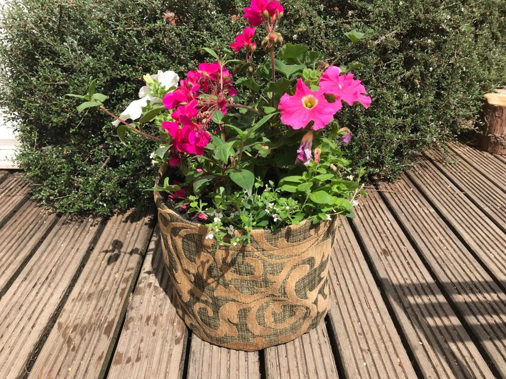 outdoor plant pot cover