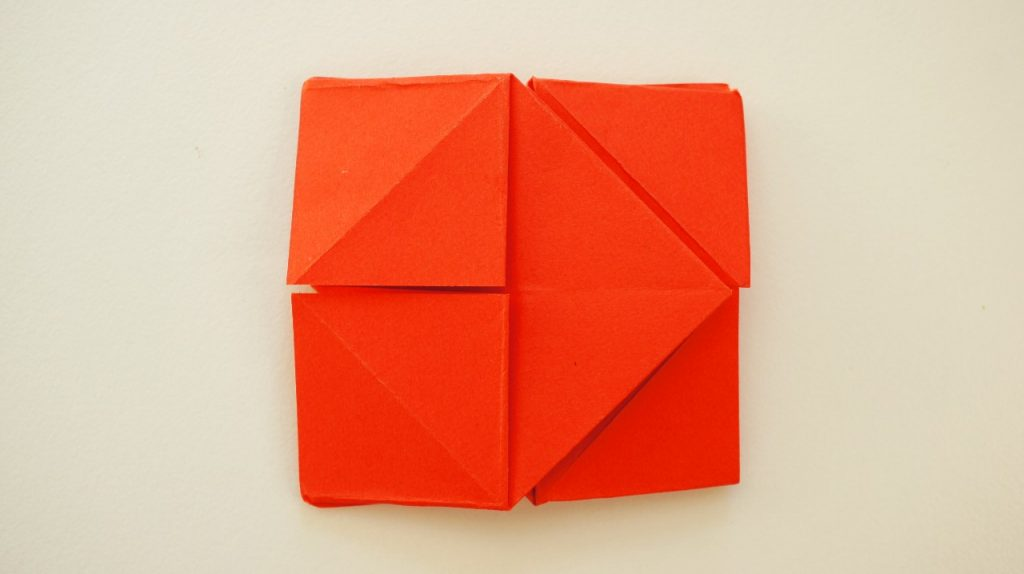 Other side of folded paper