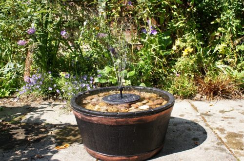 solar powered DIY water feature