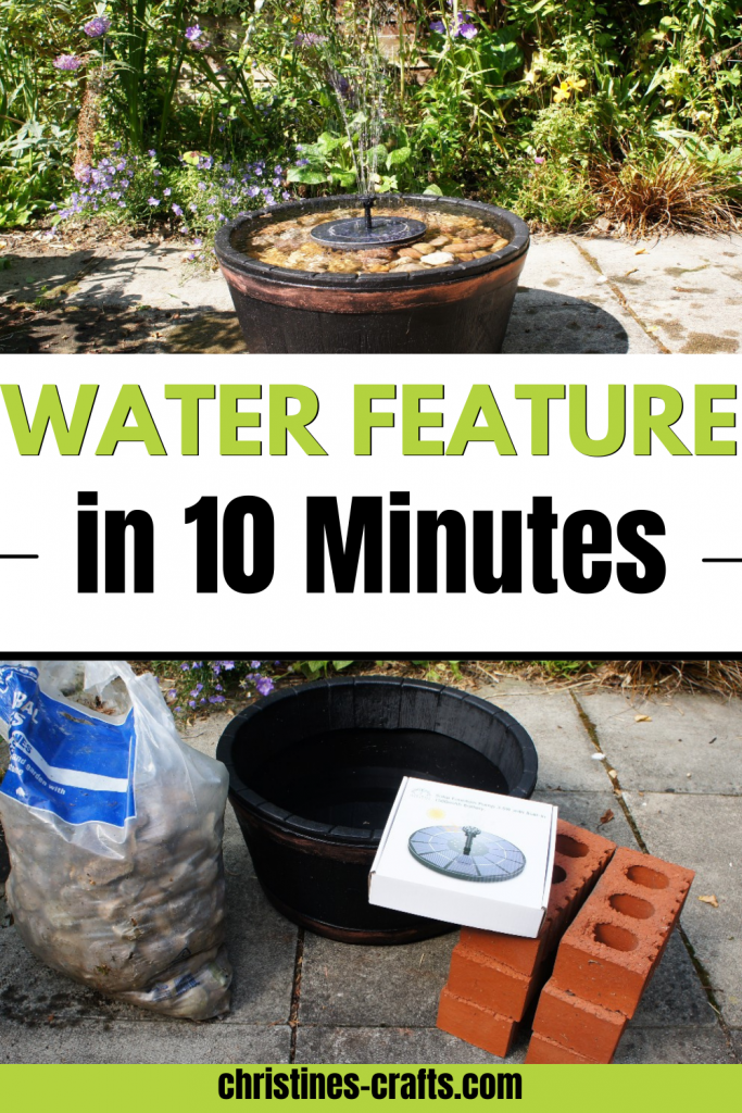 water feature Pinterest pin