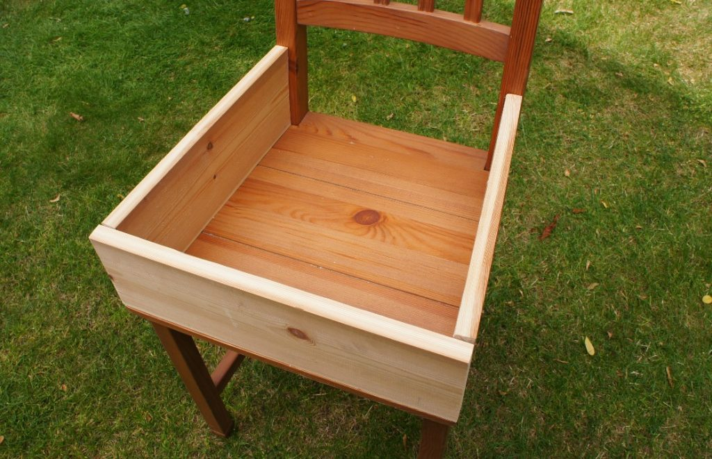 3 sides in place on chair