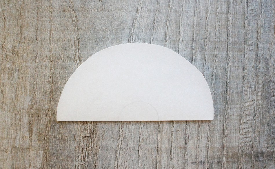 Paper Circle Folded in Half