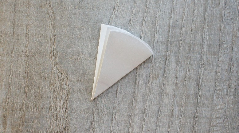 Paper circle folded in eighths