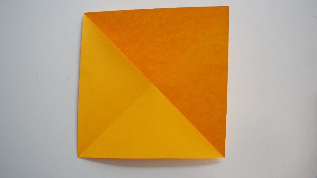 square of paper opened out